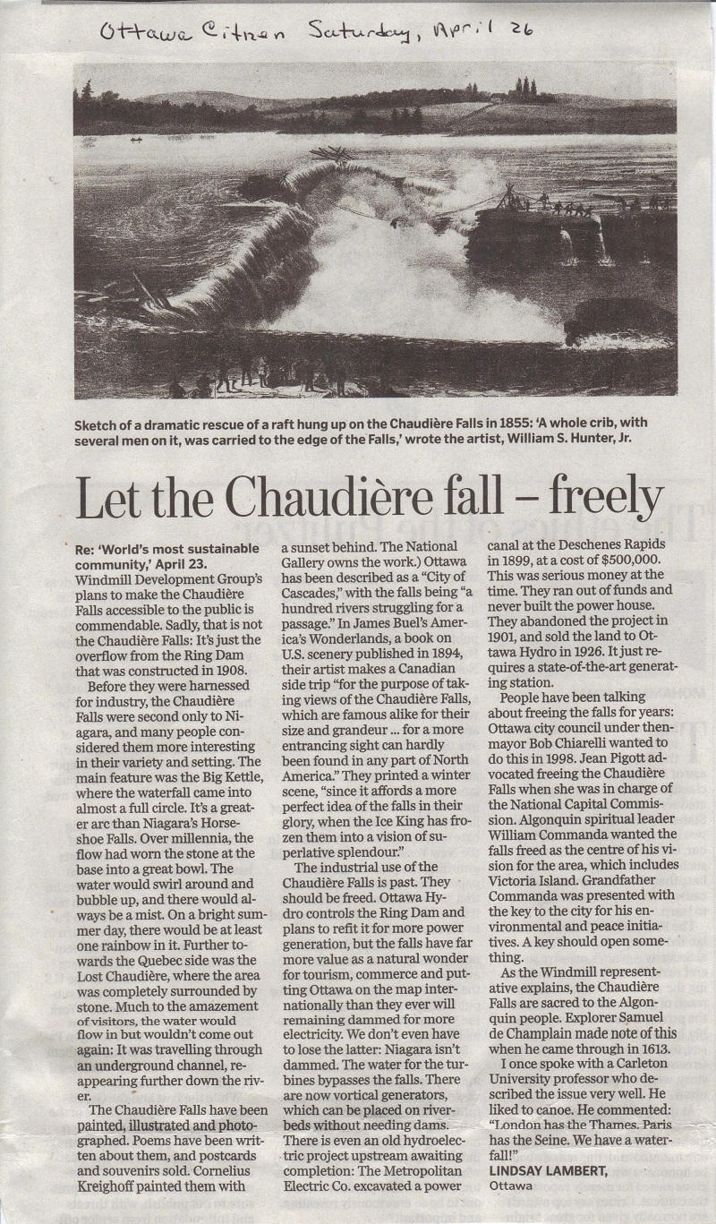 Chaudiere-Falls-Letter-to-Editor