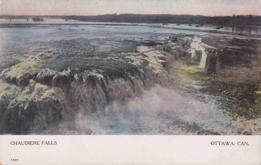 Postcard of Chaudiere Falls -unused -Warwick Bros and Rutter -publishers Toronto
