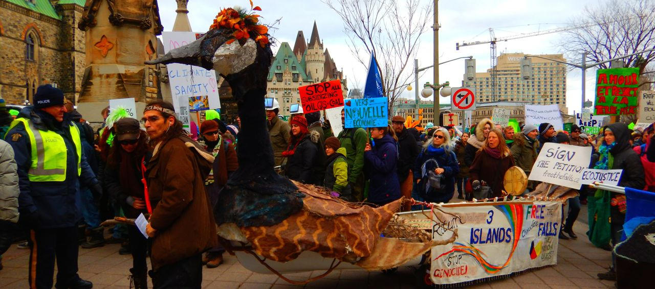 Goose at Climate March -2015Nov29