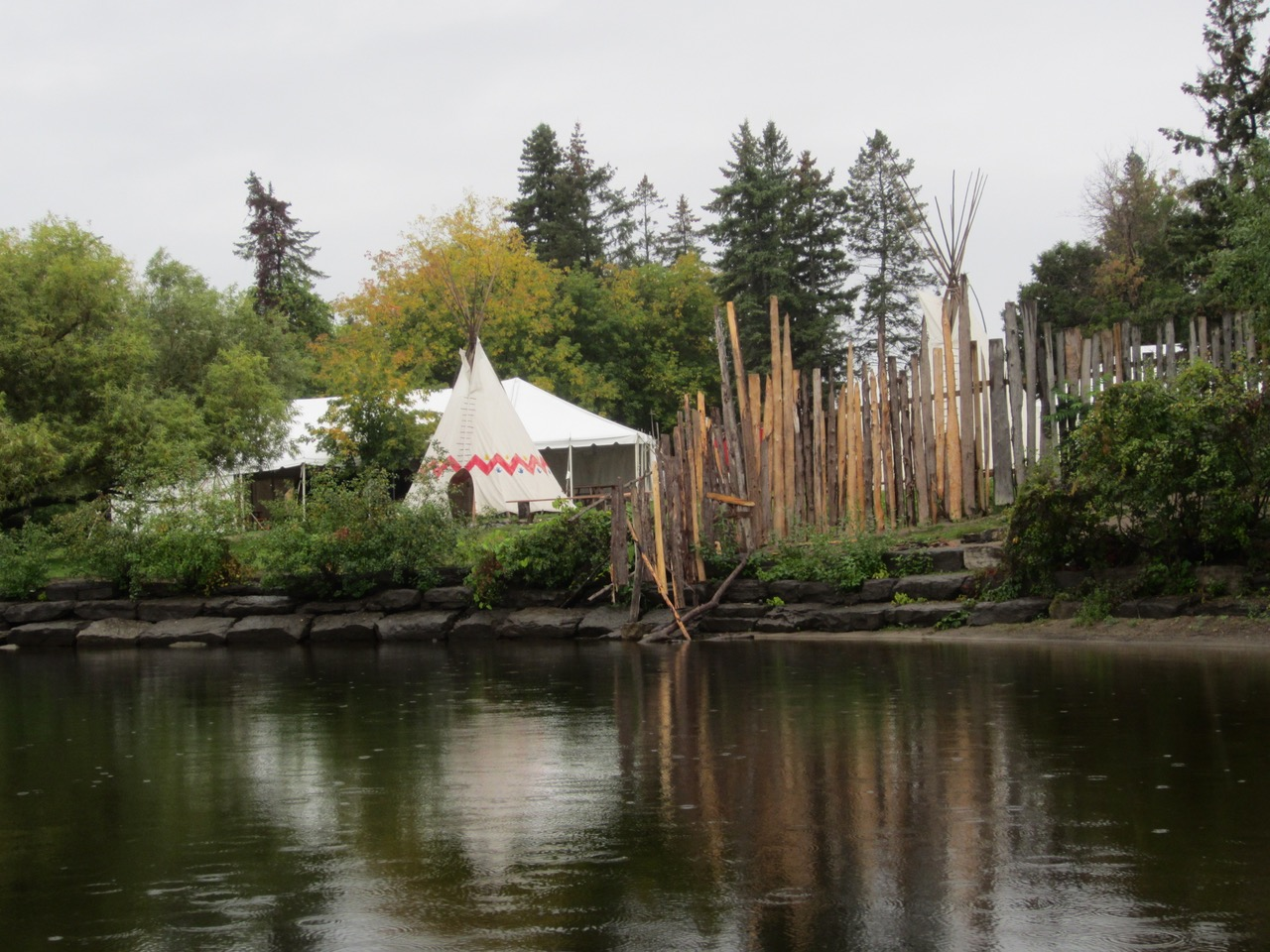 Victoria Island with fence and teepee